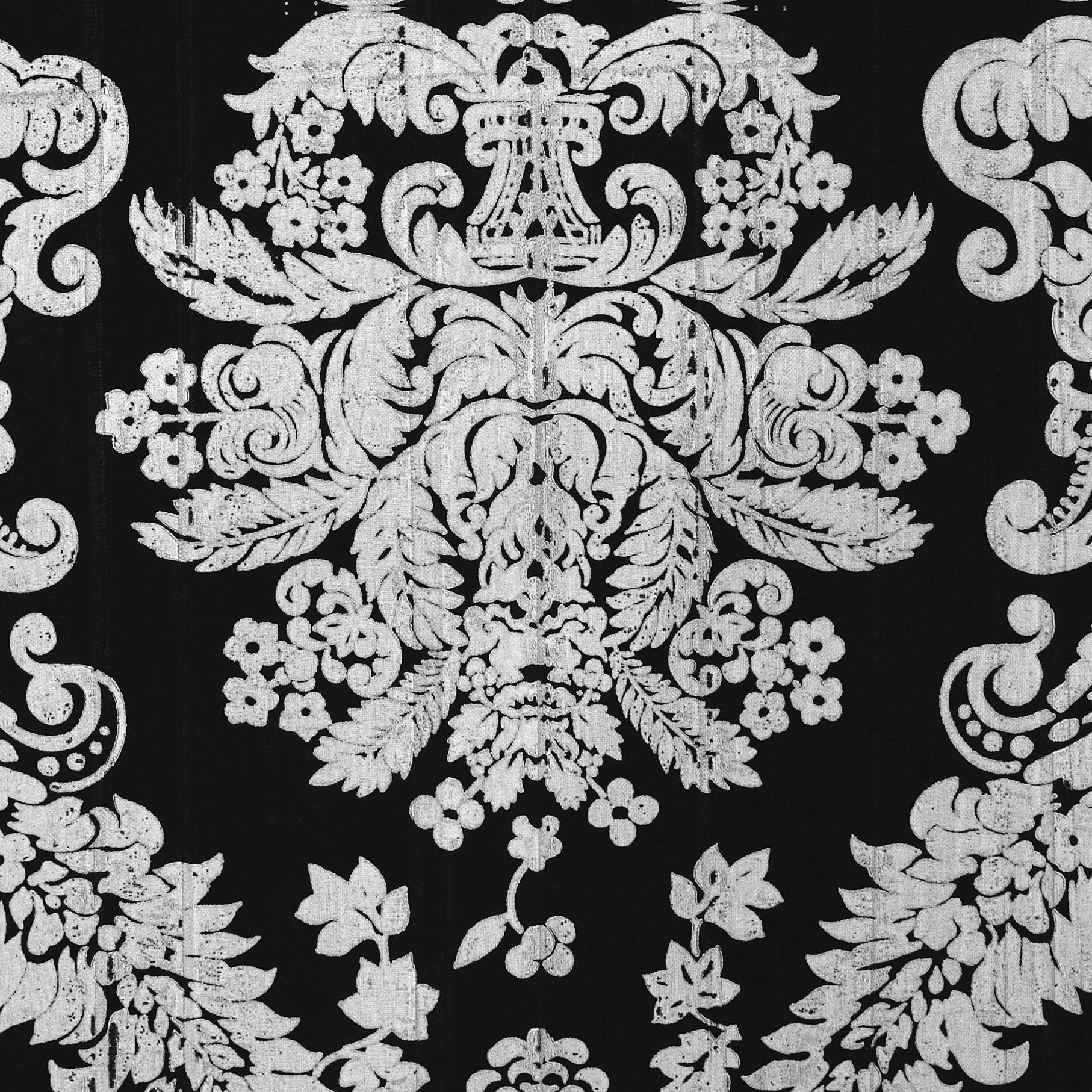 Fancy Lace Black Silver