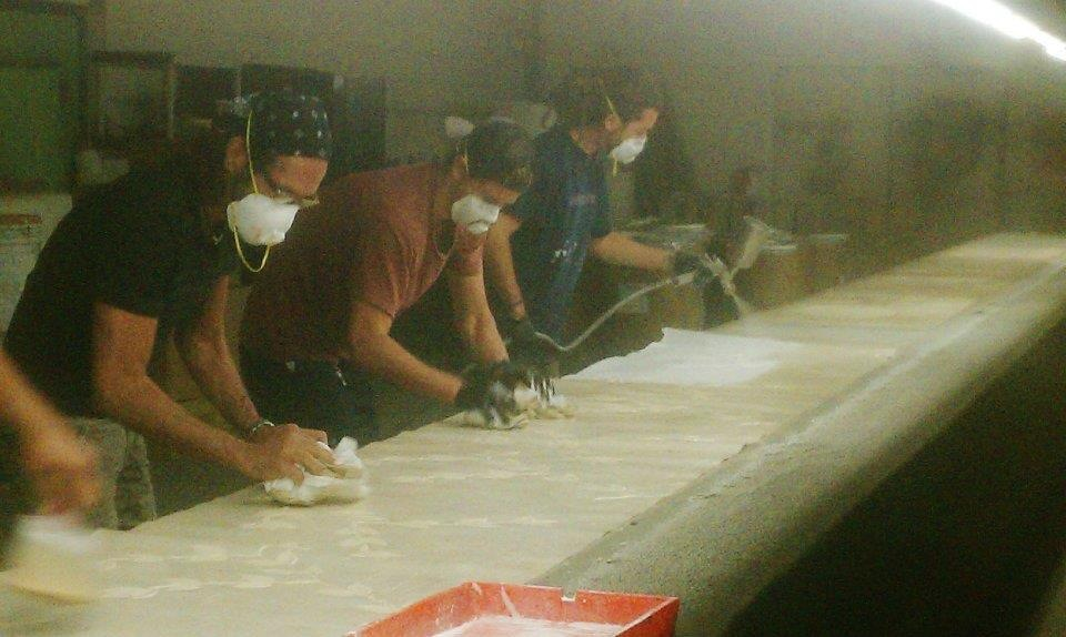 wallcovering factory image with workers