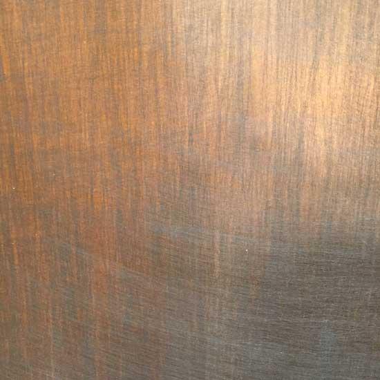 Silk wrap copper sample
