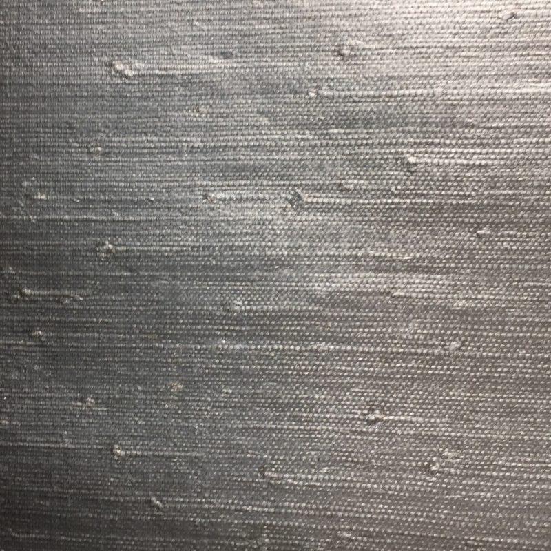 grasscloth silver metallic sample