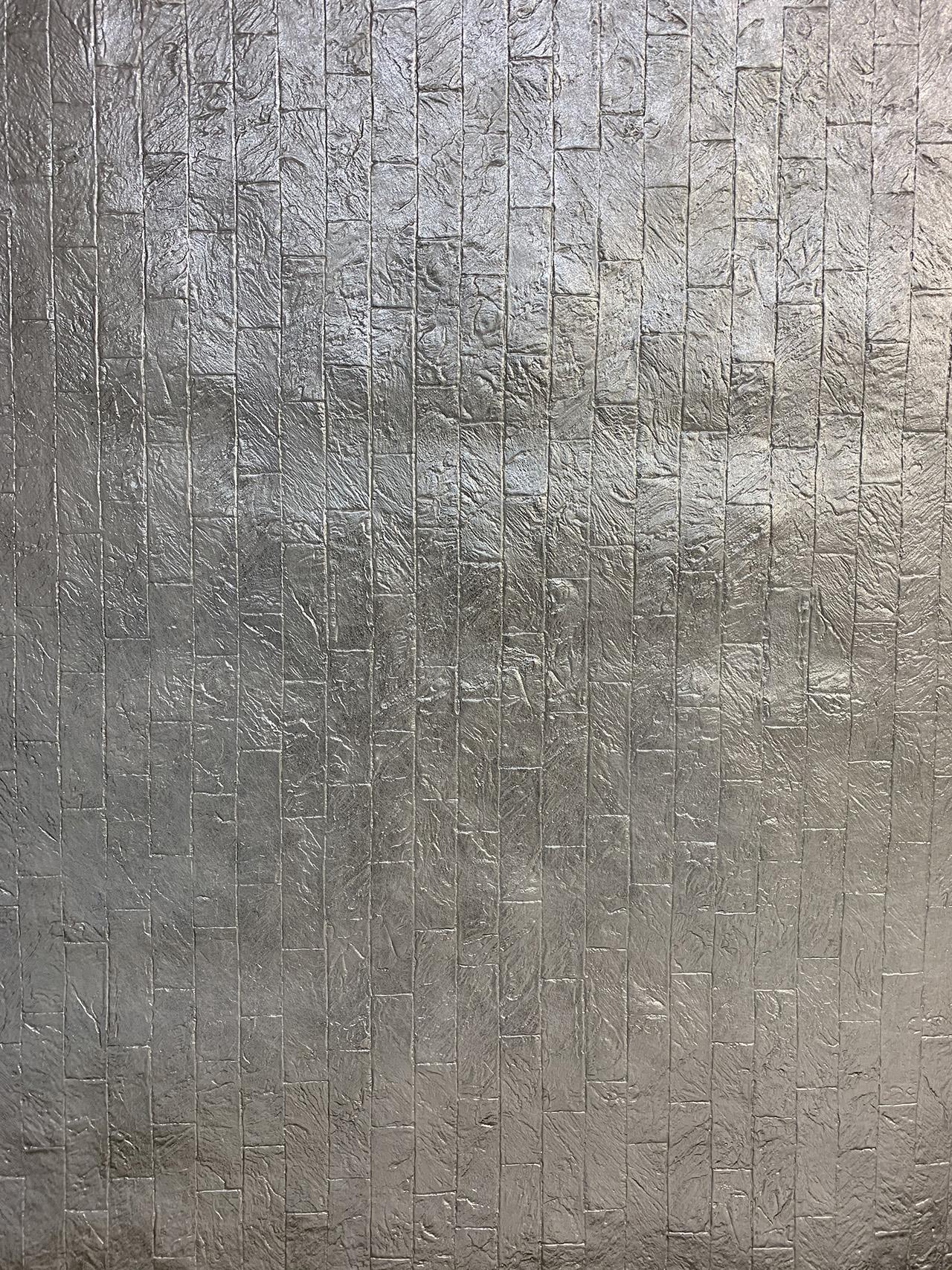 Embossed Brick Silver